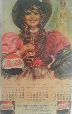 Old mexican pepsi calendar