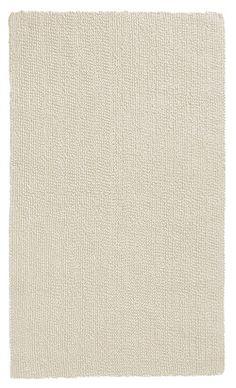 Schöner naturfarbener Badteppich aus 100% Baumwolle mit wohnlichem Touch, beidseitig verwendbar. Hochwertige Qualität mit 2.100 g/qm. Waschbar im Wollprogramm. Hergestellt in Deutschland.