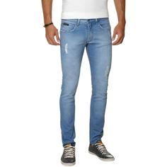 COMPRE AQUI: Calça Jeans Calvin Klein Jeans Super Skinny - Azul (Cód.125686827)