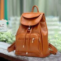 Moda Vintage PU mochila de cuero pequeña mochila mochilas mujeres casuales estilo británico mochilas para niñas adolescentes taleguilla B89
