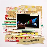 Christmas scrapbook layout inspiration created with Sleigh Ride Collection. #cratepaper