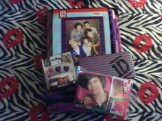 The One Direction stuff I got for Christmas:)