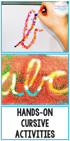 Learning to write the cursive alphabet can be fun. Check out these awesome activities for kids working on their handwriting. Help kids improve their penmanship. Teaching Cursive Writing, Teaching Kids To Write, Learning Cursive, Teaching Handwriting, Handwriting Activities, Letter Activities, Pre Writing, Kids Writing, Writing Skills