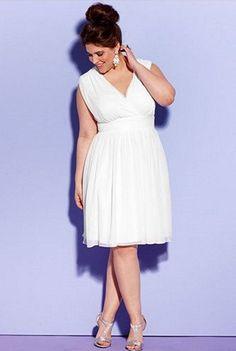 Short Plus-Size Wedding Dresses | Pinterest | Embellished dress ...