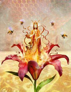 ≗ The Bee's Reverie ≗  Bee Prosperity by Greg Spalenka (on Etsy as spalenka)