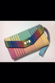Beautiful wallet made from girasol wrap scrap.