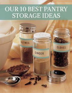 Our 10 Best Pantry Storage Ideas | Martha Stewart Living - Any cook worth her salt knows that a great home-cooked meal begins in the pantry. If you can keep it well stocked with spices and everyday staples and well-organized, it will serve you well.