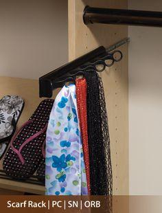 scarf hanging storage