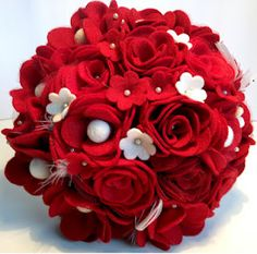 Felt wedding bouquet Whoever is getting married will be a cute idea