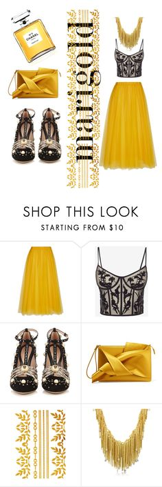 """""""Shiny nights"""" by valebabi78 ❤ liked on Polyvore featuring Rochas, Alexander McQueen, Gucci, N°21 and Orlando Orlandini"""