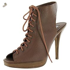Steve Madden Womens P-Karli Platform Lace Up Heel Shoe, Cognac, US 9.5 - Steve madden pumps for women (*Amazon Partner-Link)
