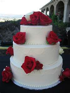 Red and White Roses Cake   A Wedding Cake Blog