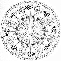 Mandala Coloring Page - Ladybugs | Flickr - Photo Sharing!