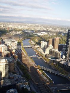 The city of Melbourne and the Yarra River from the Observation Deck. Melbourne; Australia. 2007
