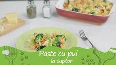 Reteta culinara Paste cu pui la cuptor din categoria Paste. Specific Romania. Cum sa faci Paste cu pui la cuptor Broccoli, Cantaloupe, Pizza, Kitchen, Food, Youtube, Cooking, Kitchens, Essen