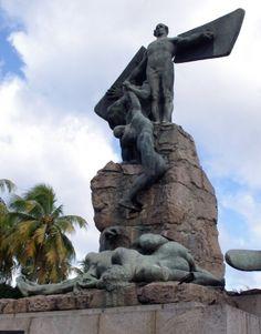 Rio de Janeiro Santos Dumont Airport Statue - 2013