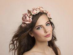 Leather Flower Headpiece