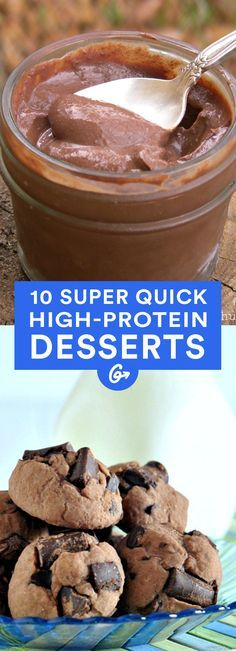 To have your cake and eat your protein too, try one of these protein-packed sweet treats. #protein #desserts http://greatist.com/eat/high-protein-dessert-recipes