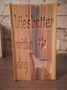 Who loves dogs?  You will need a 23cm book with at least 519 pages to fold your own pooch.