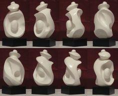 Amanda E. Ahlstrom, 2010 [plaster, wood base, paint & glaze]