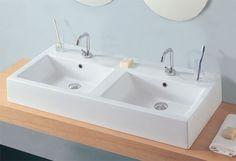 lavabo d'arredo a doppia vasca  WELL 2  Iperceramica