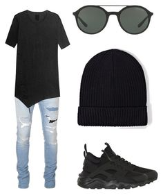 """Men "" by marynn-rlle on Polyvore featuring Balmain, Thom Krom, NIKE, Giorgio Armani, AllSaints, men's fashion et menswear"