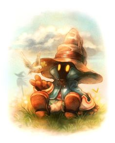 My favorite Final Fantasy character ever. My favorite Final Fantasy character ever… Vivi! Final Fantasy Vii, Artwork Final Fantasy, Final Fantasy Characters, Fantasy Love, Fantasy Series, Fantasy World, Fantasy Posters, Black Mage, Art Manga