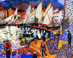 """""""Au séchage de voiles"""" Peinture de l'artiste français André Derain (1880 - 1954)"""