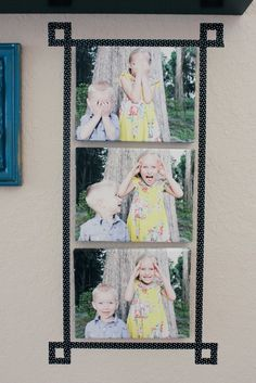 Buggie and Jellybean: Washi tape frame.