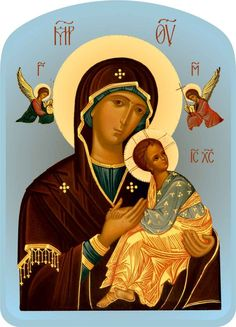 Icon of the Theotokos - The Passion [Perpetual Help]   ПБ