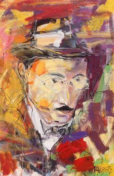 Fernando Pessoa | 2015 acrílico s/ tela | 120 x 80 cm Dagoberto Silva