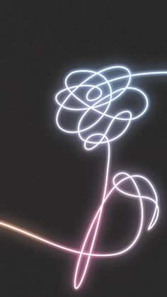 BTS Neon Flower Love Yourself kpop wallpaper lockscreen
