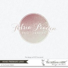 Premade Photography Logo and Watermark Design - One of a Kind -  Unique Glitter Logo - Business Branding on Etsy, $50.00