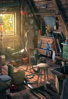 The attic was her favorite place. She could be holed up there for hours, living in another time; in another world.
