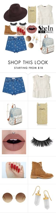"""The girl in the blue shorts💙"" by angelabri ❤ liked on Polyvore featuring Valentino, Violeta by Mango, Red Camel, Kate Spade, UGG, Victoria Beckham, BillyTheTree and country"