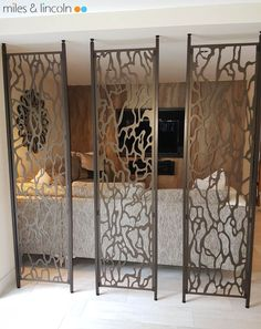 Laser cut screens - Room divider - Lido design by Miles and Lincoln. www.milesandlincoln.com