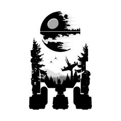 Star Wars: R2-D2 Endor Design - Created by ArrussellDesign available for sale on TeePublic.