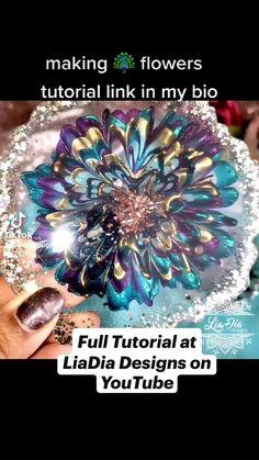 Diy Resin Projects, Diy Resin Art, Diy Resin Crafts, Diy Crafts Love, Arts And Crafts, Diy Tumblers, Flower Boxes, New Hobbies, Flower Tutorial
