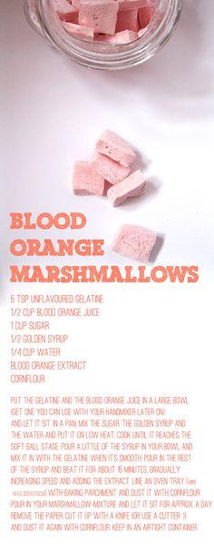 Blood Orange Marshmallow Recipe :)!