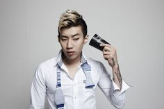 Jay Park Blonde Frosted Faux Hawk