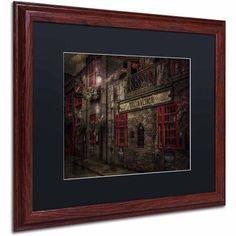 Trademark Fine Art The Old Anchor Pub Canvas Art by Erik Brede, Black Matte, Wood Frame, Size: 16 x 20