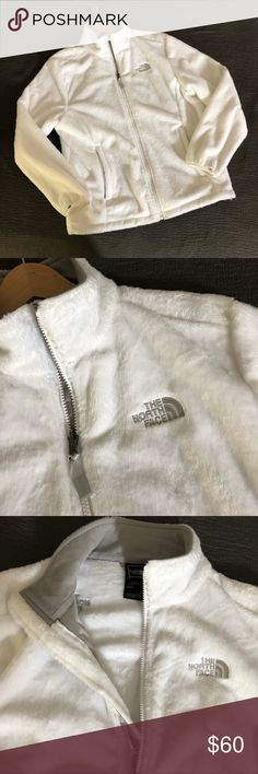 North Face Women's Jacket White fleece like new.  Fitted style with high color. North Face Jackets & Coats Utility Jackets