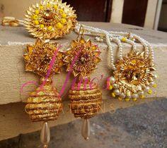 handmade gota kinari jewllery by https://www.facebook.com/Ninos-creations-123853704344831/?ref=aymt_homepage_panel