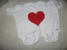 Twin my whole heart onesie  specail price for by BellaBlueBowtique, $20.00
