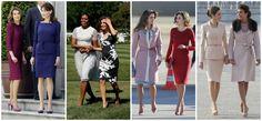 La prensa internacional considera desde hace años a doña Letizia como una de las mujeres más elegantes del mundo. Siempre que en su agenda hay un gran encuentro, las comparaciones son inevitables en los tabloides. De izquierda a derecha: con las entonces primeras damas de Francia, Carla Bruni, en 2009; y EE UU, Michelle Obama; con la reina Rania de Jordania, en 2015; y con la primera dama de Argentina, Juliana Awada, el pasado febrero.