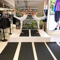 Join us today at 12pm ET in NYC for the @aetna #stressless initiative at Macy's Herald Square on the 8th floor. We will be leading a yoga class and sharing some of our favorite poses to help you relax and reconnect. As we approach the holidays, one of the busiest times of the year, #takeamoment each day just for you. Share your plan for self-care during the upcoming Holidays using the hashtags #takeamoment & #stressless. #sponsored