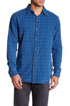 Indigo Yarn Dyed Dobby Double Long Sleeve Shirt
