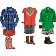 How the West was won-- fresh summer outfits with a feisty Western twist!