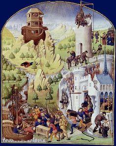 Compilation des chroniques et histoires de Bretagne by Pierre le Baud (Francais 8266, f.7): Biblical and Greek History