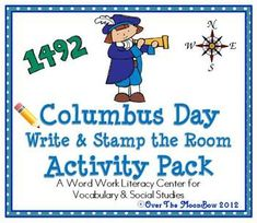 20% off until 9/26/12~This history based, Columbus Day themed activity pack will help your students practice reading, writing, & vocabulary! A perfect complement to your Columbus Day activities!